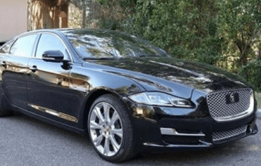 Black Jaguar Chauffeur Driven car Derby