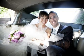Married Couple using our Wedding Car Hire Service in Derby