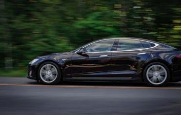 Tesla Model S Car with Chauffeur in Derby